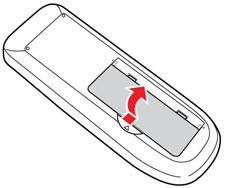 Reemplazo de las pilas del control remoto