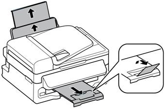 Chargement du papier pour l'impression de documents
