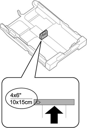 Chargement du papier pour photos dans le bac papier