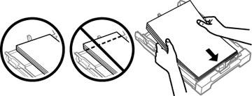 Chargement du papier pour documents dans le bac papier