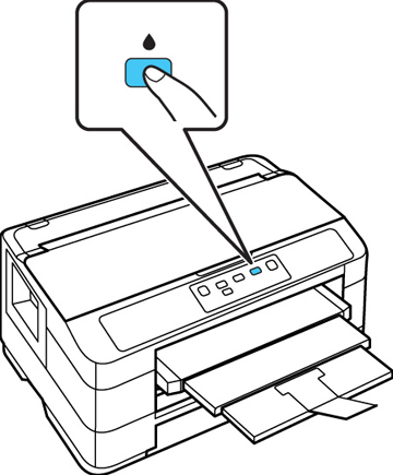 Cleaning the Print Head Using the Product Buttons