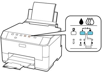 Cómo limpiar el cabezal de impresión con los botones de la
