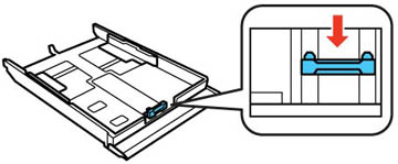 Cómo cargar papel en la bandeja 2 (bandeja inferior)