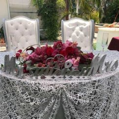 Table Chair Rentals 2 Grey Floral Covers Bride And Groom Sweetheart King Queen Chairs Rental Wing Back Pcs