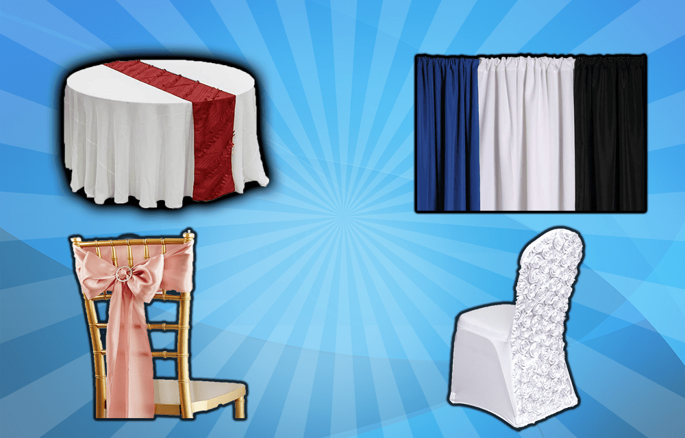 chair cover rental orland park bar height office chairs party and inflatable bounce house rentals serving chicago area with table linens covers napkins