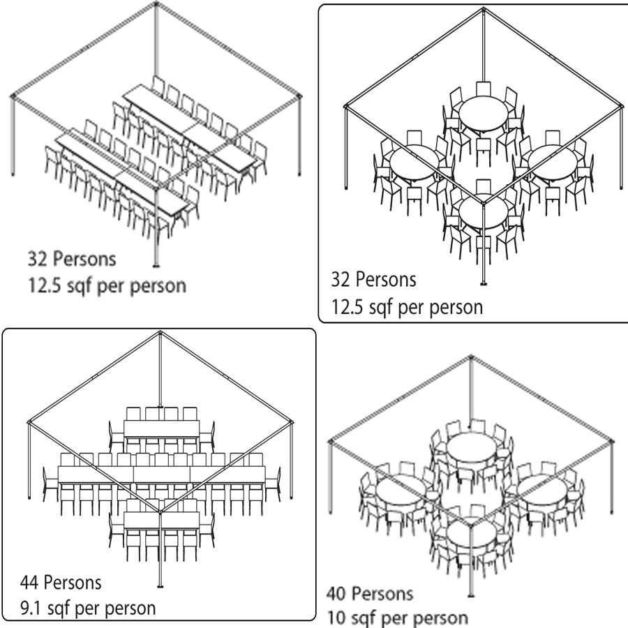 Setup area: 24'L x 24'W x 21'H