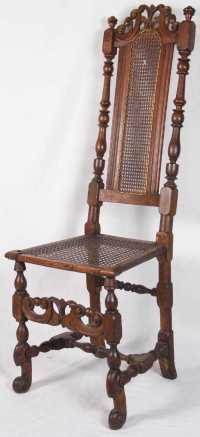 English William and Mary Side Chair