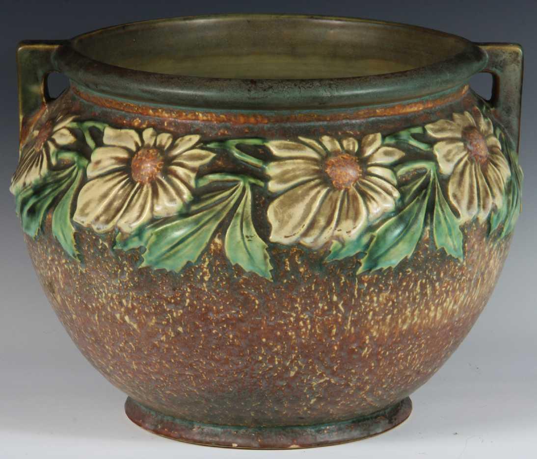 Roseville Pottery Dahlrose Pattern Jardinire