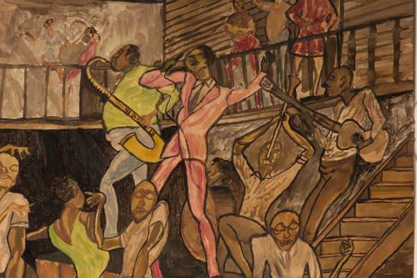 Ernie Barnes Sugar Shack Painting