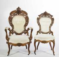 John Henry Belter Victorian Chairs