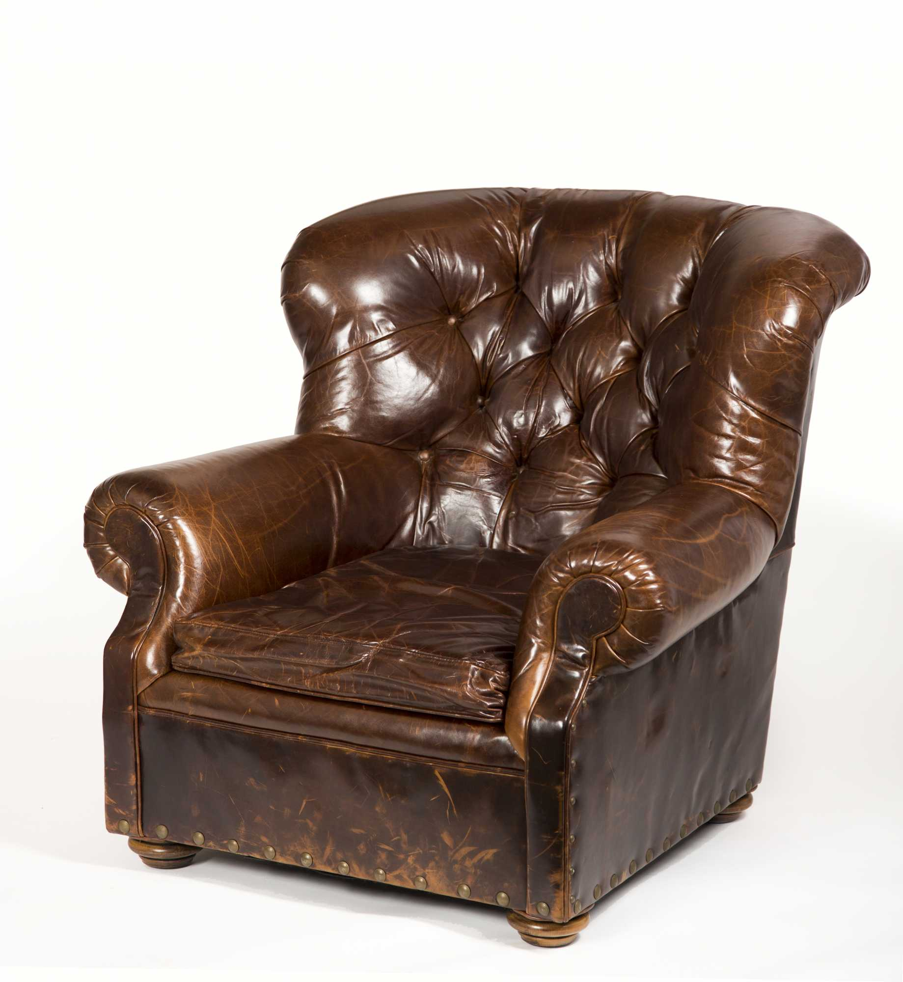 Restoration Hardware Leather Chairs Leather Lounge Chair Made By