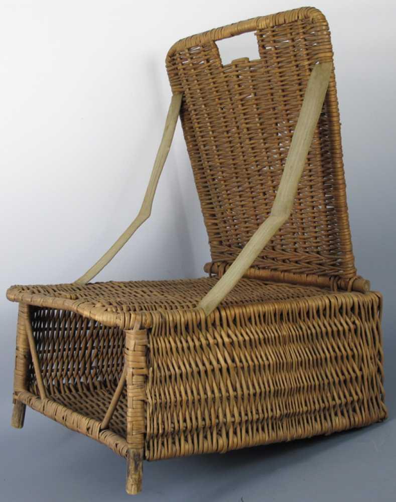 canoe chair salon covers vintage folding wicker seat