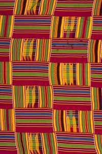 An Ashanti Kente Strip woven textile