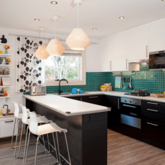 Ikea Kitchen Bar Corner Cabinet Ideas Family S Happy New Year After Winning Makeover From By Using Narrow Cabinets On The Breakfast Side Of They Were Able To Create A Functional Dining Spot