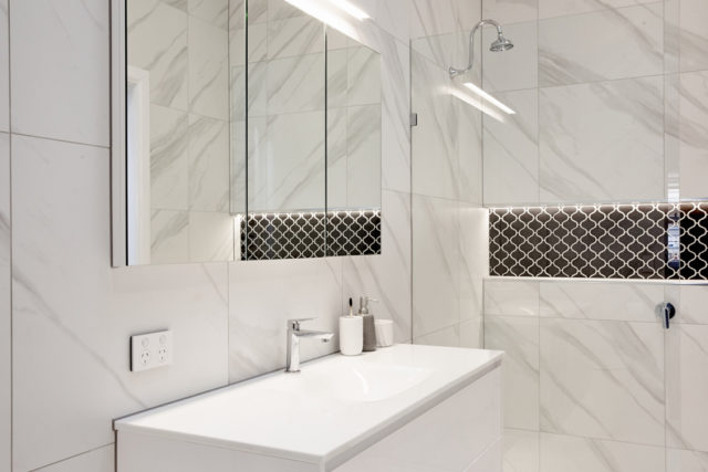 All the details from Sundays Block en suite bathrooms