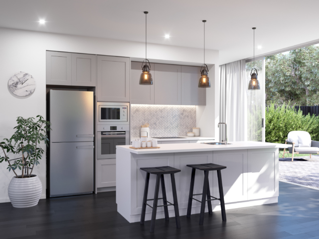 complete kitchen commercial flooring packages for those paralysed by indecision the bordeaux i love grey shaker style doors