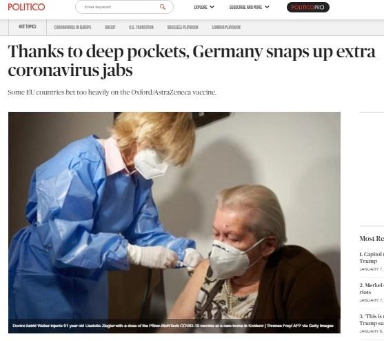 ΓΕρμανία εμβόλιο κορονοΪός