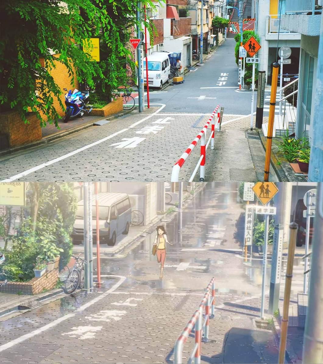 intersection leading to suga shrine