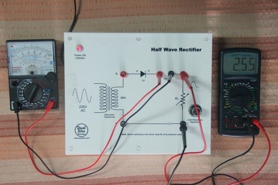 The Circuit Diagram Of Half Wave Rectifier Is As Shown In The Fig1