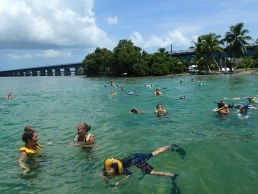 Kids having fun in the water at Pigeon Key Summer Camp Florida Keys Summer Camps