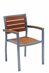 outdoor light wood stacking chair
