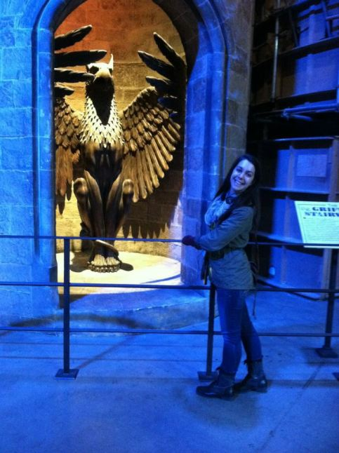 Katie Redmiles visits Harry Potter studios.
