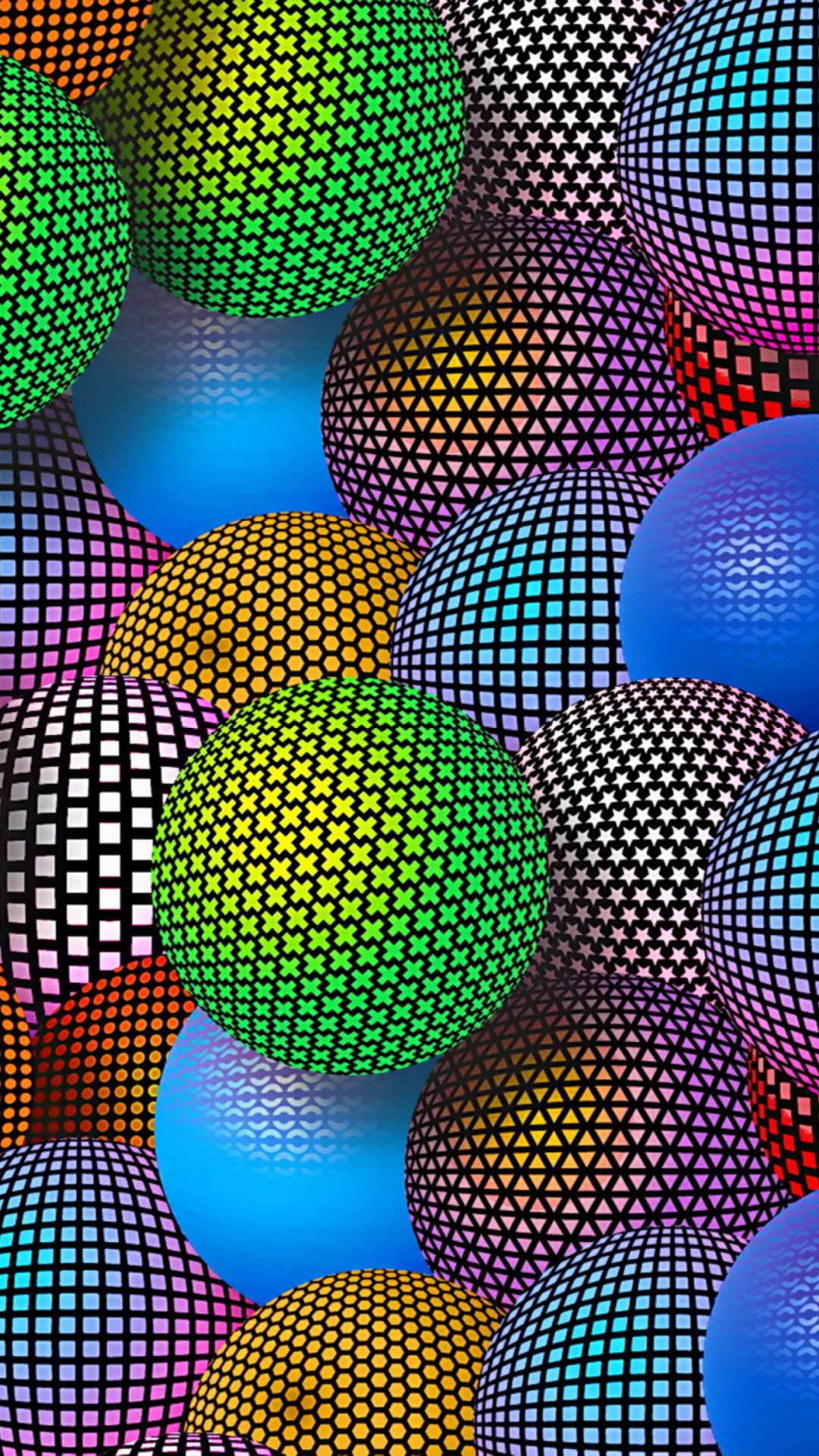 How To Choose The Best 3d Digital Wallpapers Printer 3d Neon Balls Wallpaper For 1080x1920