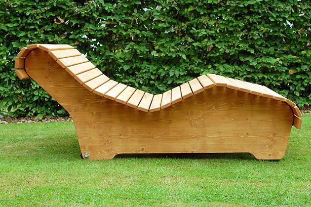 Berühmt Holzliege Geschwungen Selber Bauen   75 Liege Holz - Evercreative RG78