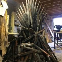 Iron Throne Chair Office Backrest Cushion Style