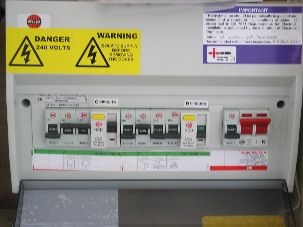 medium resolution of fuse board upgrades rcd protection north london wylex fuse box rcd