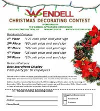 Christmas Decorating Contest - Town of Wendell
