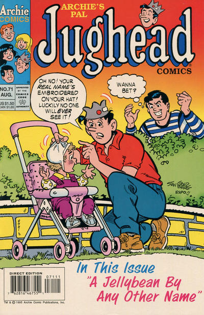 What Is Jughead's Real Name : jughead's, Issue, Archie's, Jughead, Comics, [Direct, Edition]