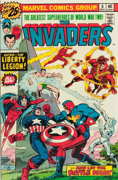 Cover for The Invaders (Marvel, 1975 series) #6 [25c Variant]