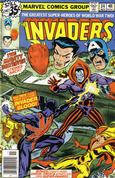 Cover for The Invaders (Marvel, 1975 series) #34