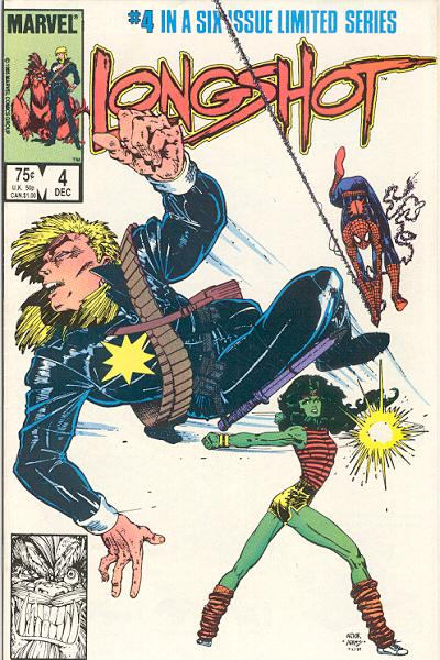 Cover for Longshot (Marvel, 1985 series) #4 [Direct Edition]