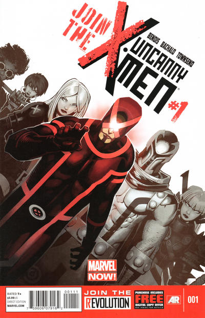 Cover for Uncanny X-Men (Marvel, 2013 series) #1