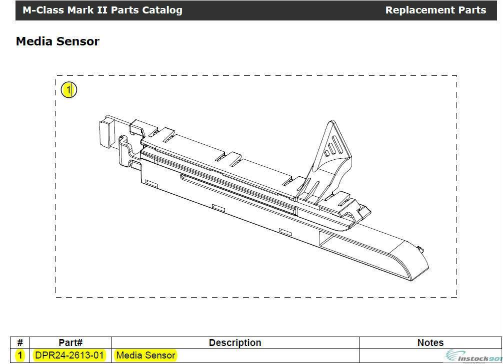 Datamax DPR24-2613-01 Media Sensor Assembly for M-4206