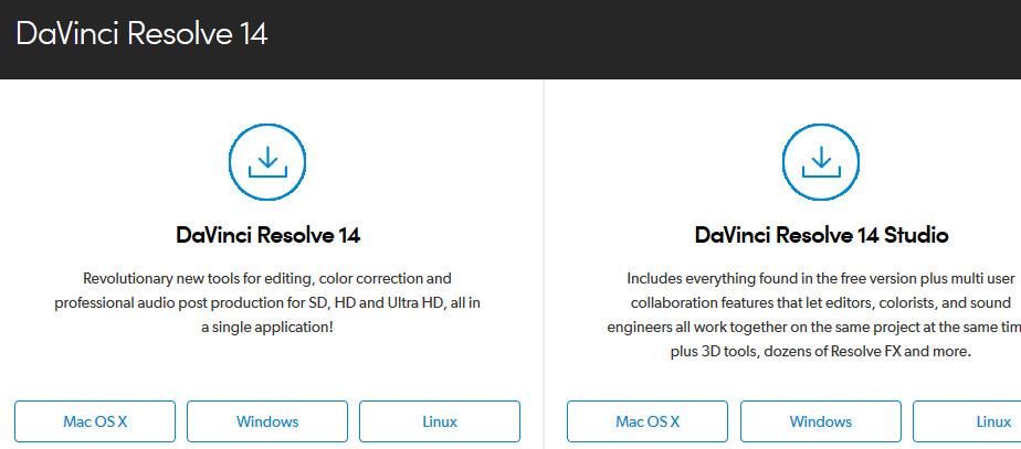 برنامج دافنشي- davinci resolve 14