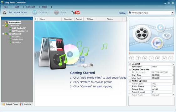 تحميل برنامج تحويل صيغ الصوت Any Audio Converter