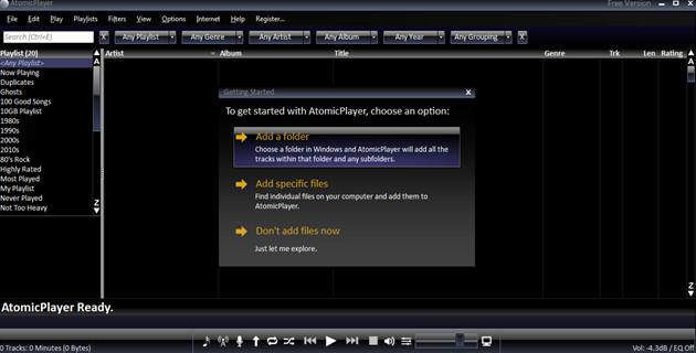 تحميل برنامج تشغيل صيغ الصوت Atomicplayer Free