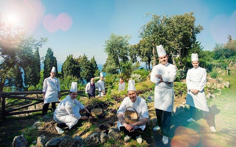 Restaurant La Terrazza di Lucullo on Capri  Menu and Dishes