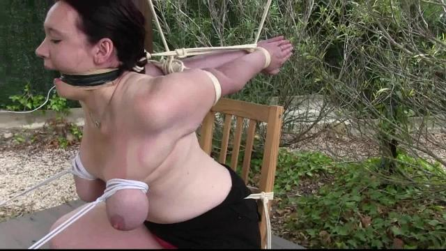 Breast Bondage Chair Predicament For Extreme Slave Tanya 0
