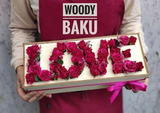 Laser Cut Red Roses Valentines Gift Box Wooden Love Word Free Vector