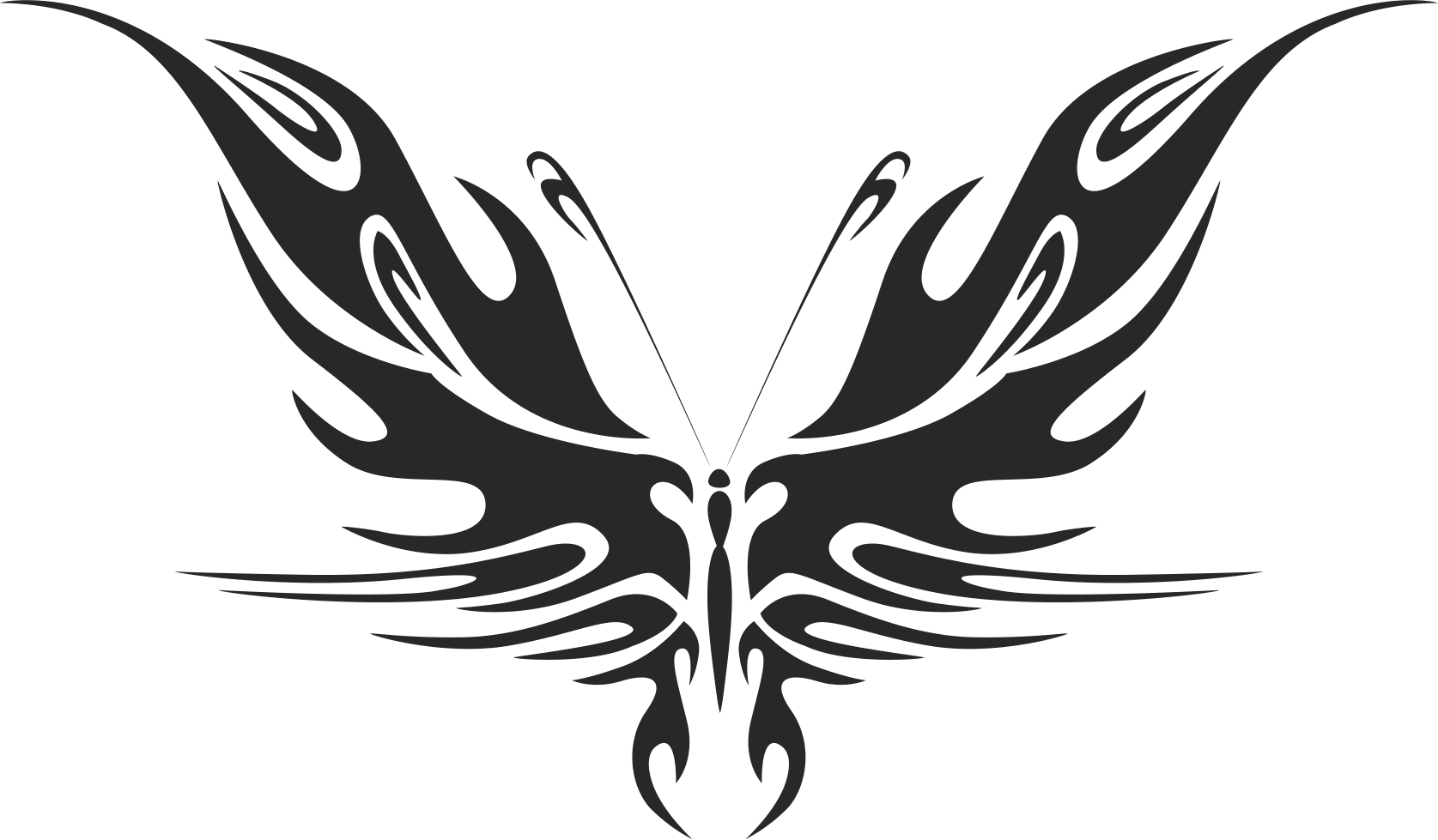 Tribal Butterfly Vector Art 44 Dxf File Files Cnc