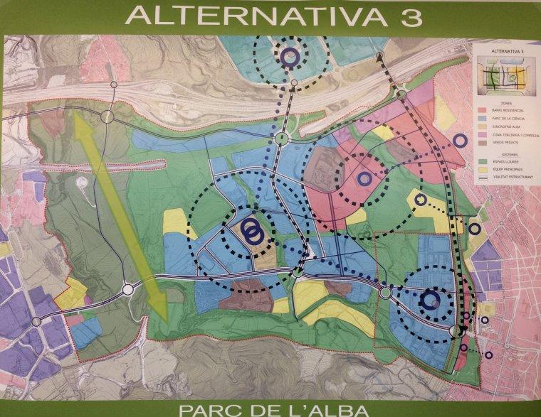 Plànol de l'alternativa 3 pel Parc de l'Alba