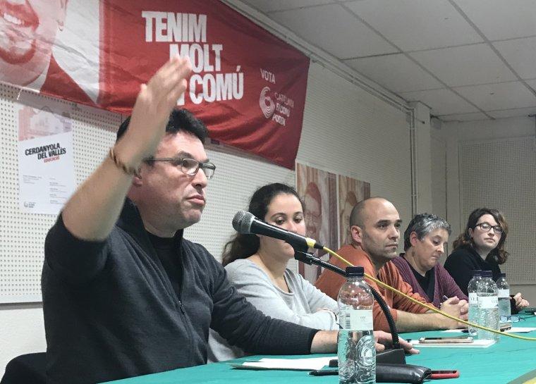 El membre de la mesa i candidat de Catalunya en Comú Podem a Cerdanyola