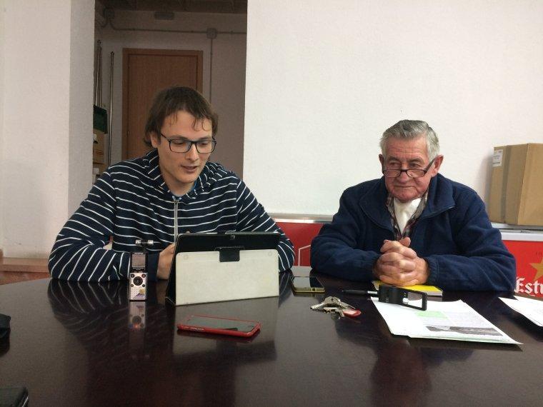Miguel Molina i Albert Lázaro durant la roda de premsa