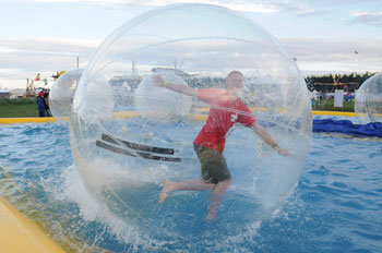 position on knockerball bubbleball