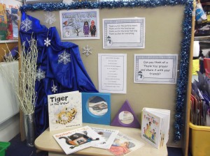 Mrs Kerr - We have been writing Winter thank-you prayers.