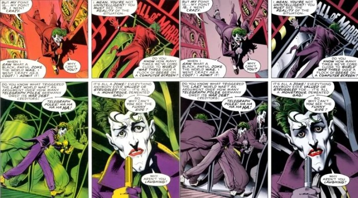 Batman - A Piada Mortal novas cores